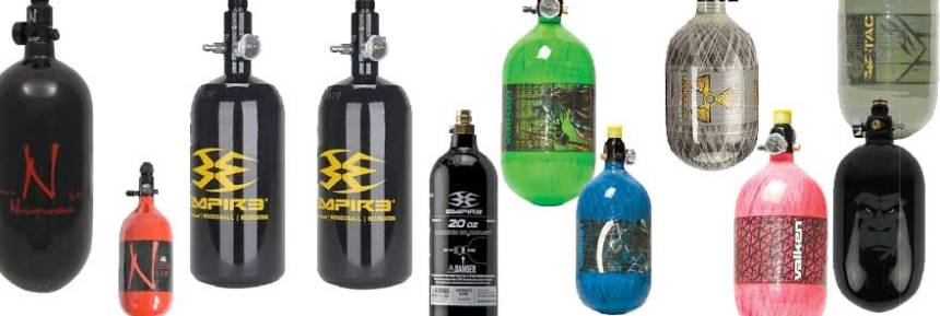 co2 vs compressed air paintball tanks