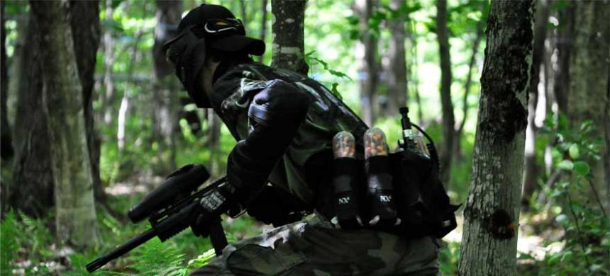 what is woodsball paintball